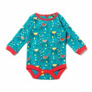 Jungle Elephant Baby Body - Organic Fairtrade Cotton