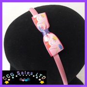 handmade peppa pig headband hair accessory